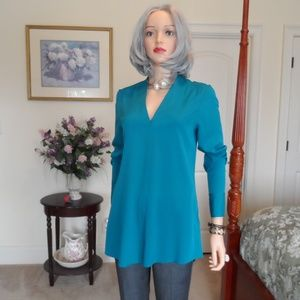 White House Black Market Teal Blue/Green Tunic 4